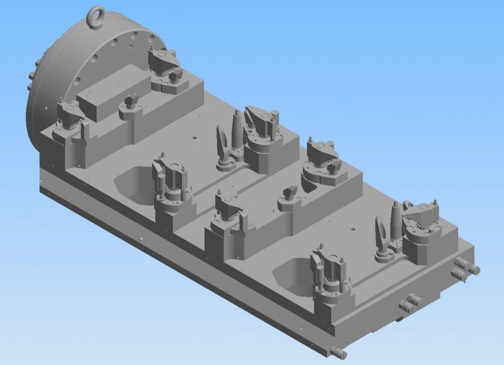 Vorrichtung für Inversmaschine, Ölwannenbearbeitung