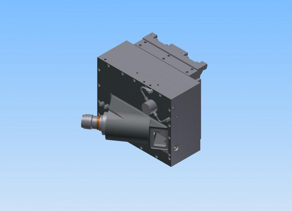 Wechselfräskopf mit Kegelradgetriebe, Prinzip Heller
